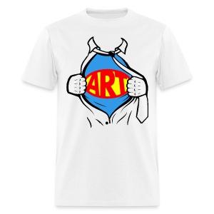 Art is a Super Power!  - Men's T-Shirt