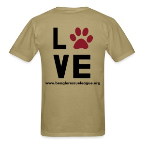 Lab to Leash LOVE - Men's T-Shirt