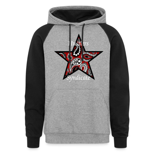 Hustlers Syndicate Blood Paisley Star hoodie - Colorblock Hoodie