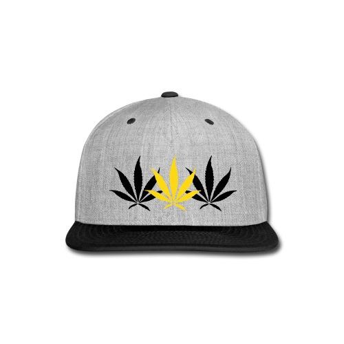 Hustlers syndicate 3 leaf hat - Snap-back Baseball Cap