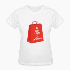 Keep calm and go shopping Women's T-Shirts