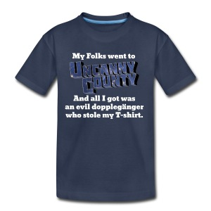 Kids' My folks went to Uncanny County shirt - Kids' Premium T-Shirt