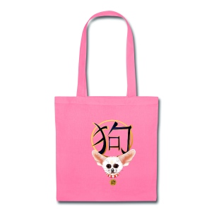 The White Chihuahua-YEAR OF THE DOG - Tote Bag