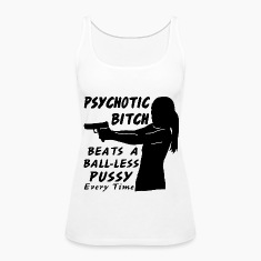 Psychotic Bitch Beats Ball-Less Pussy Every Time