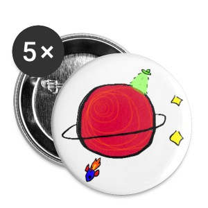 5 Pack 2 1/4 56mm Little Planet buttons! - Large Buttons
