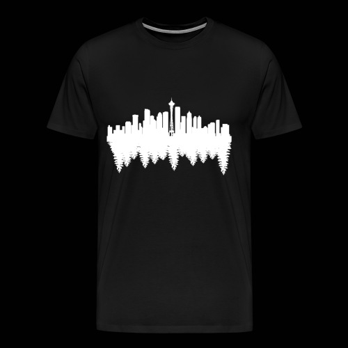 Men's black Seattle t-shirt - Men's Premium T-Shirt