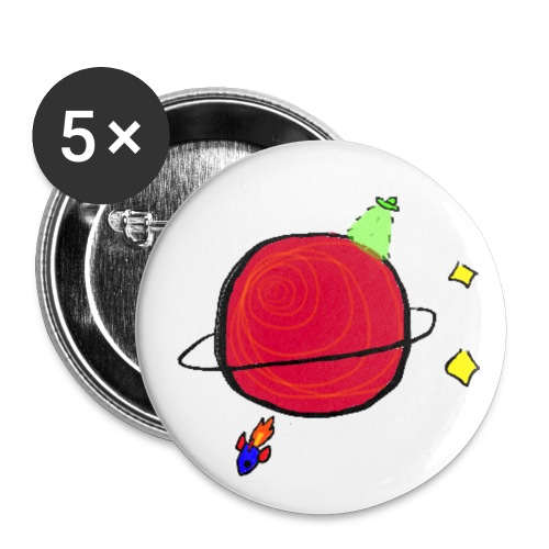 5 Pack 1 25mm Little Planet buttons! - Small Buttons