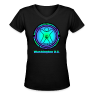 Women's T-Shirts ~ Women's V-Neck T-Shirt ~ WWWGA 2016 Official