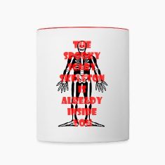Spooky Scary Skeleton Two Color Mug