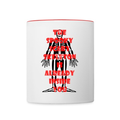 Spooky Scary Skeleton Two Color Mug - Contrast Coffee Mug