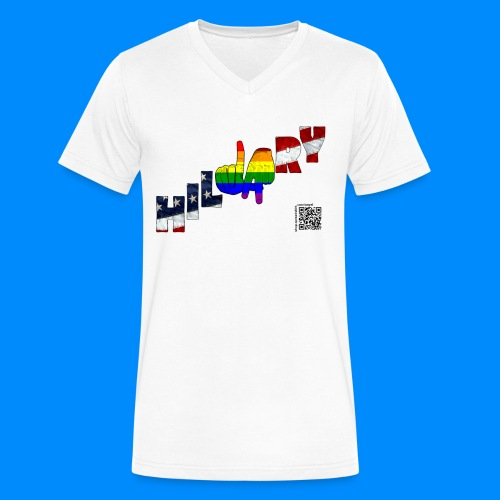 LGBT for Hillary Pride TEE  - Men's V-Neck T-Shirt by Canvas