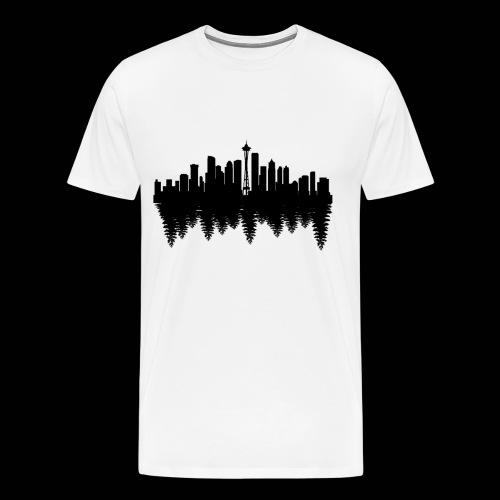 Men's white Seattle t-shirt - Men's Premium T-Shirt