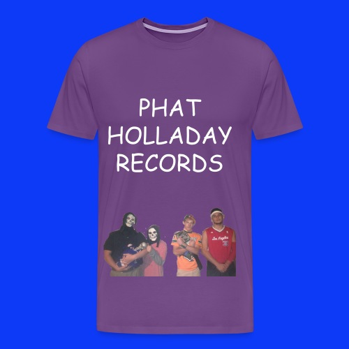Phat Holladay Records Mens Tee (White Font) - Men's Premium T-Shirt