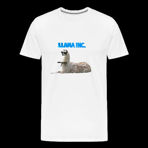 Gun Llama Men's Shirt - Men's Premium T-Shirt