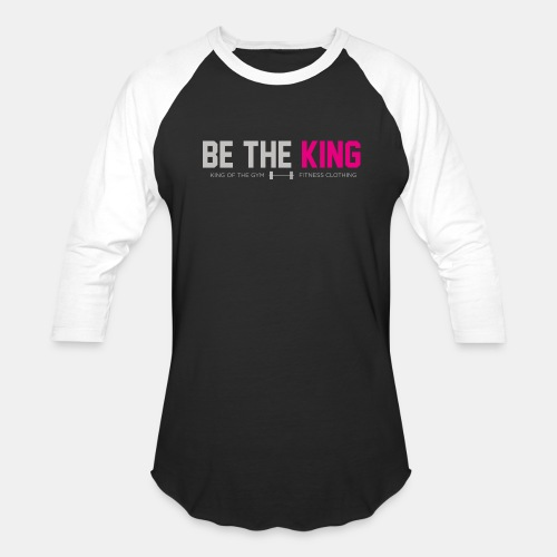 BE THE KING | Men's Black Baseball T-Shirt - Baseball T-Shirt