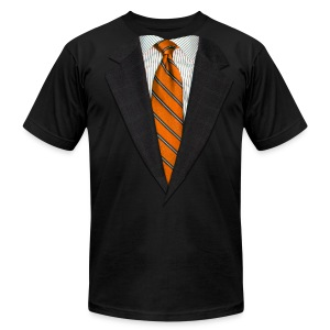 Orange Suit and Sport's Tie - Men's T-Shirt by American Apparel