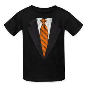 Orange Suit and Sport's Tie - Kids' T-Shirt
