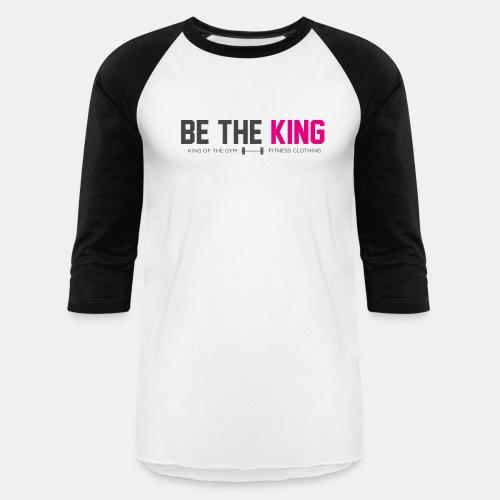 BE THE KING | Men's White Baseball T-Shirt - Baseball T-Shirt