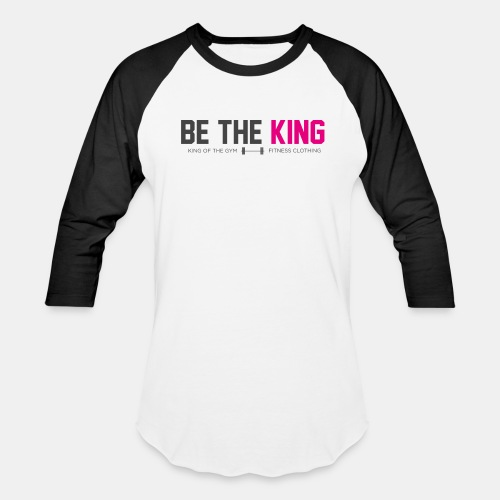 BE THE KING | Men's White Baseball T-Shirt - Baseball T-Shirt