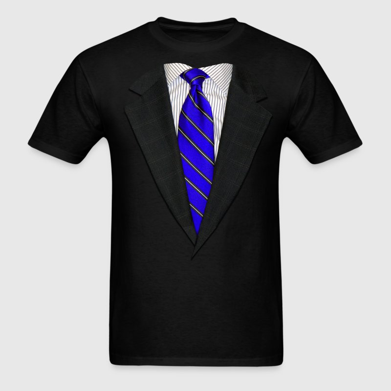 Suit and Tie Real Blue T-Shirts - Men's T-Shirt