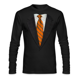 Orange Suit and Sport's Tie - Men's Long Sleeve T-Shirt by Next Level