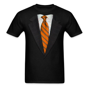 Orange Suit and Sport's Tie - Men's T-Shirt