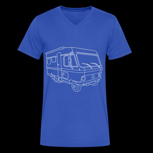 Caravan (mobile home) - Men's V-Neck T-Shirt by Canvas