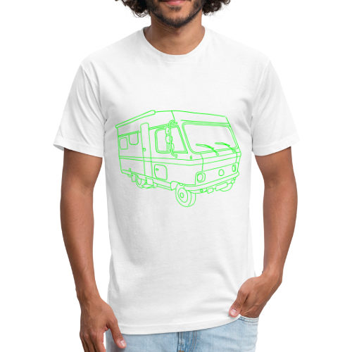 Caravan (mobile home) - Fitted Cotton/Poly T-Shirt by Next Level