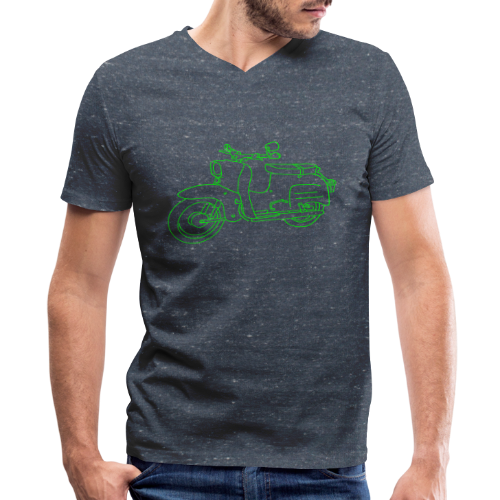 Scooter Swallow - Men's V-Neck T-Shirt by Canvas