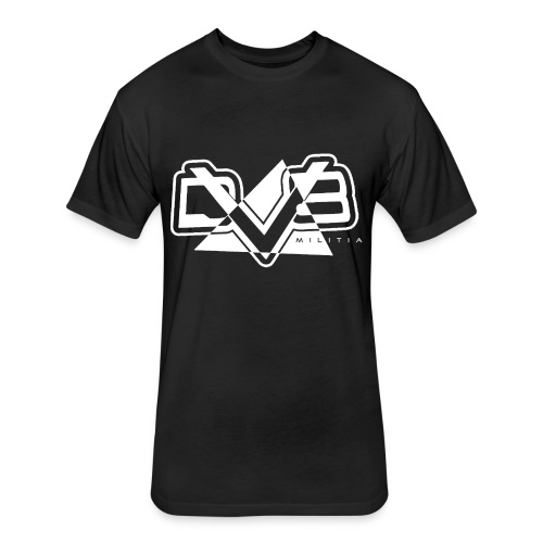DV8 Militia Black T-Shirt - Fitted Cotton/Poly T-Shirt by Next Level