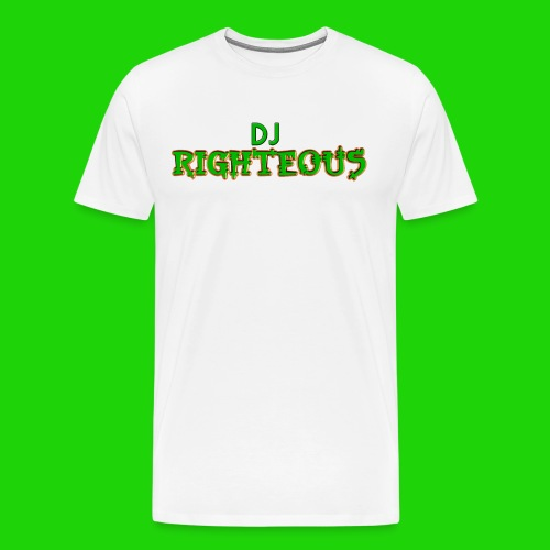Men's Premium T-Shirt - Logo of world famous DJ Righteous