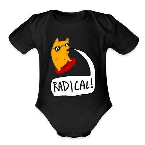 RADICAL! Baby's one piece - Organic Short Sleeve Baby Bodysuit