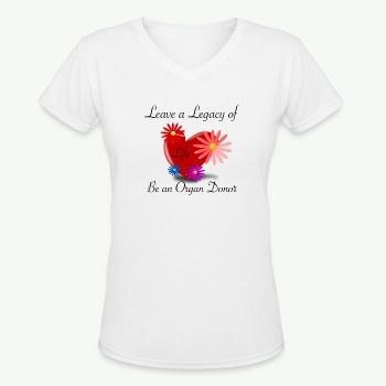 Organ donation Women's T-Shirt - Women's V-Neck T-Shirt