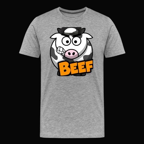 Beef Design - Grey - Men's Premium T-Shirt
