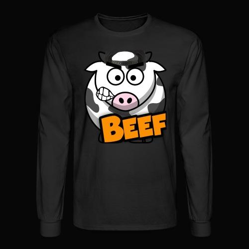 Beef Design - Black - Men's Long Sleeve T-Shirt