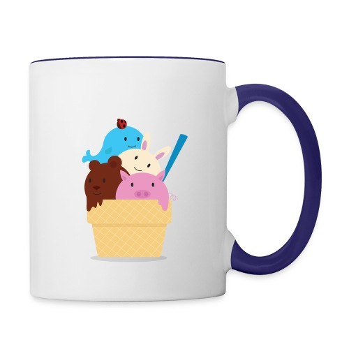 animals ice cream - Contrast Coffee Mug