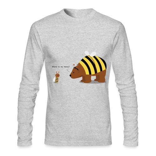 where is my honey - Men's Long Sleeve T-Shirt by Next Level