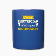 Electrician Superpower Professions T-shirt Mugs & Drinkware