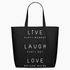 live laugh love motto Bags & backpacks