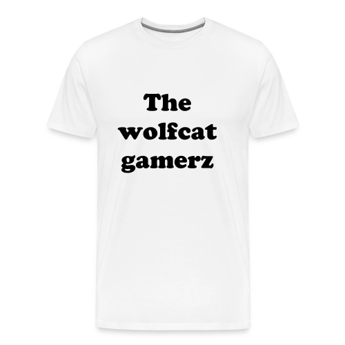 the wolfcat gamerz t - shirt - Men's Premium T-Shirt
