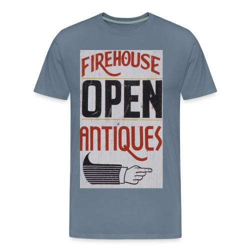 firehouse Antiques Open Sign - Men's Premium T-Shirt