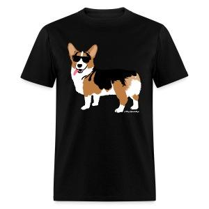 Men's Giant Corgi T-Shirt (no text), Black - Men's T-Shirt