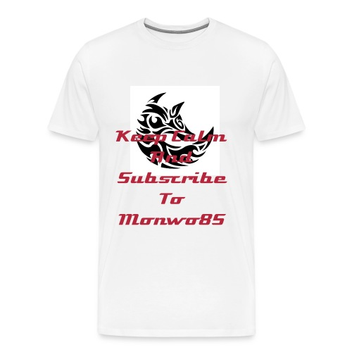 Monwo85 Subscriber Mens T-Shirt - Men's Premium T-Shirt