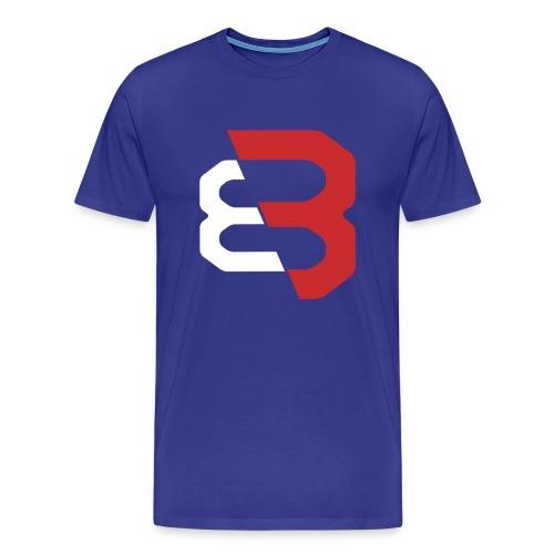 BAL3 Red Logo Men's Premium T-Shirt - Men's Premium T-Shirt