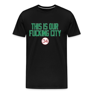 Our Fucking City (Green/Red) - Men's Premium T-Shirt