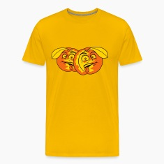 fruit comic cartoon face disgust funny team buddie T-Shirts