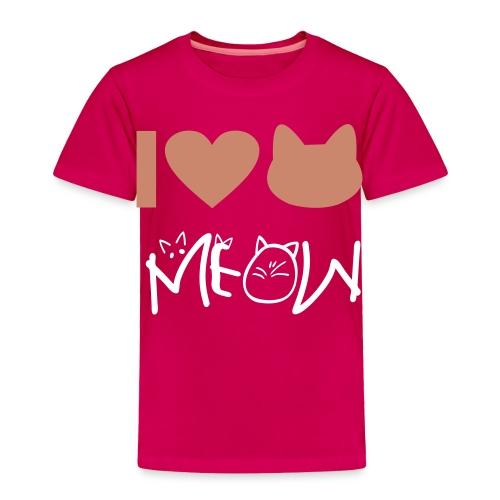 Love meow - Toddler Premium T-Shirt