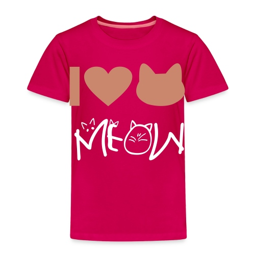 Love meow - Toddler Premium T-Shirt