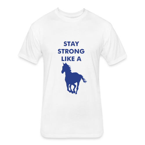 strong horse - Fitted Cotton/Poly T-Shirt by Next Level