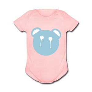 panda face Baby Short Sleeve One Piece - Short Sleeve Baby Bodysuit